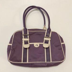 Tommy Hilfiger purple & cream tote handbag